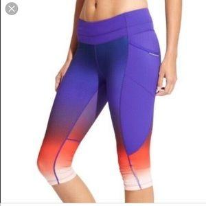 Athleta ombré Capri pant workout purple